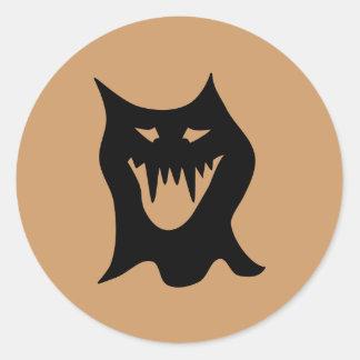 Monster Cartoon Black Stickers