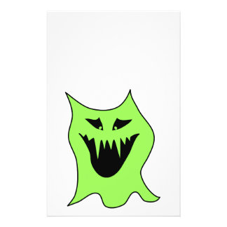 Monster Cartoon. Green and Black. Flyer