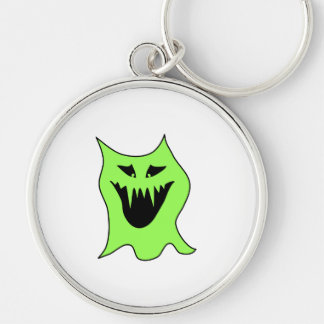 Monster Cartoon. Green and Black. Keychain
