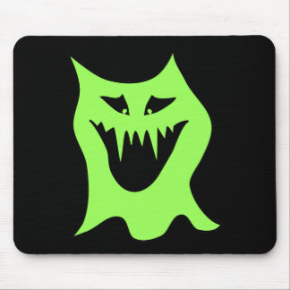 Monster Cartoon. Green and Black. Mouse Pad