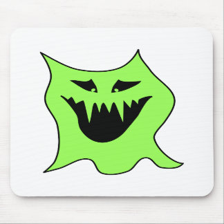 Monster Cartoon. Green and Black. Mouse Pads