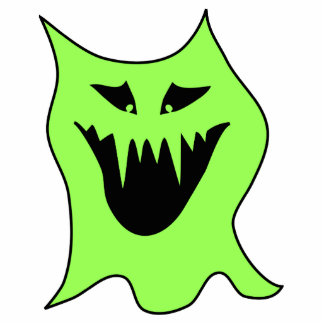 Monster Cartoon. Green and Black. Photo Cut Out