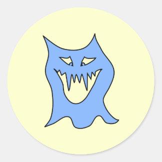 Monster Cartoon in Blue Stickers