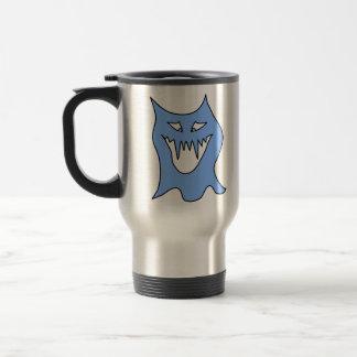 Monster Cartoon in Blue. Travel Mug