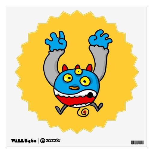 monster cartoon wall skin