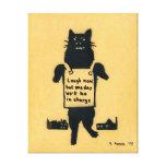 Monster Cat Canvas Print