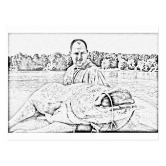 Monster catfish postcard