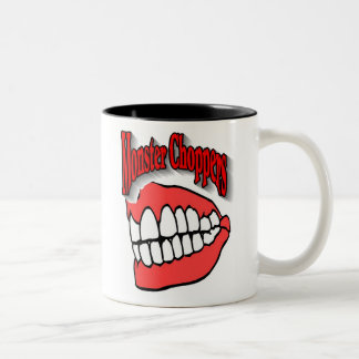Monster Choppers Logo Two-Tone Coffee Mug
