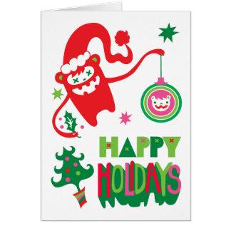 Monster Christmas card