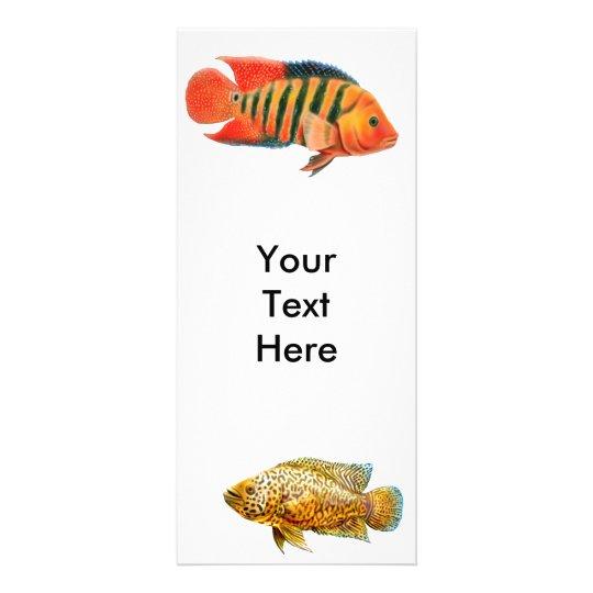 Monster Cichlid Fish Rack Card