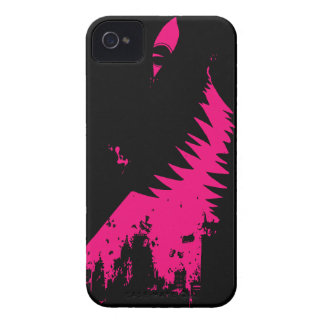Monster City Attack - Hot Pink Black Background Case-Mate iPhone 4 Cases