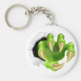 Monster claw hand ripping keychains