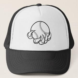 Monster claw holding Baseball Ball Trucker Hat
