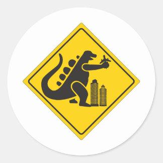 Monster Crossing Classic Round Sticker