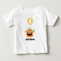 Monster Cupcake Balloon 1st Birthday T-Shirt
