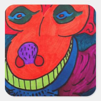 Monster Dawg Square Sticker