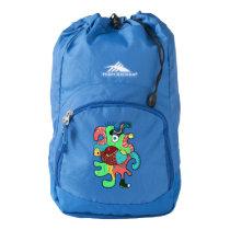 Monster doodle backpack