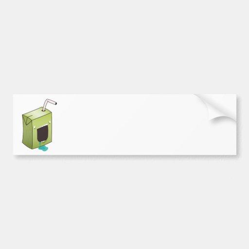 Monster drooling juice box bumper sticker