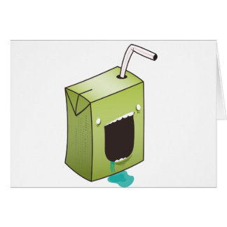 Monster drooling juice box card