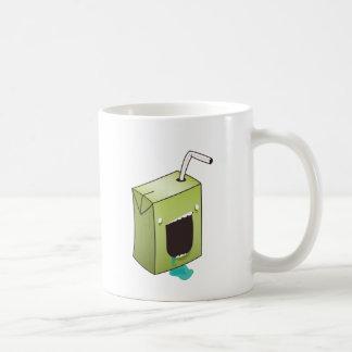 Monster drooling juice box classic white coffee mug