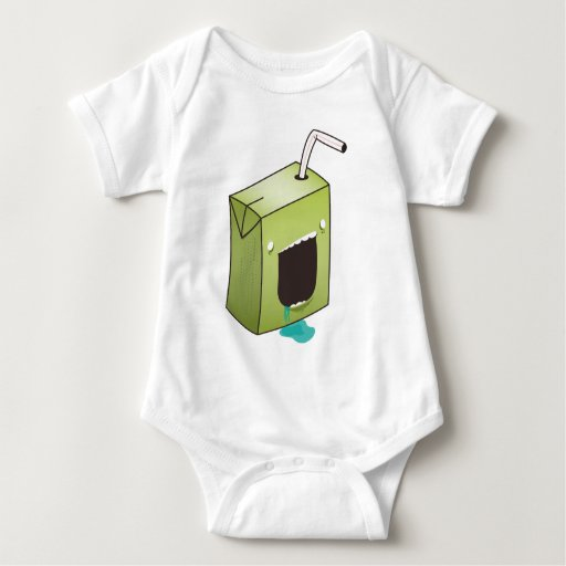 Monster drooling juice box infant creeper