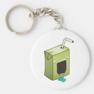 Monster drooling juice box key chain