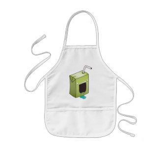 Monster drooling juice box kids' apron