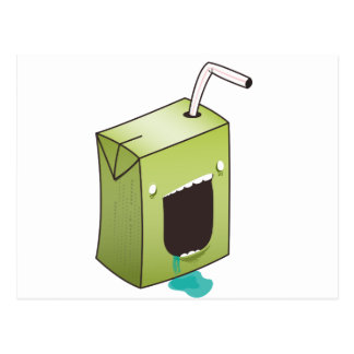 Monster drooling juice box postcard