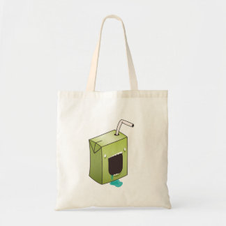 Monster drooling juice box tote bag