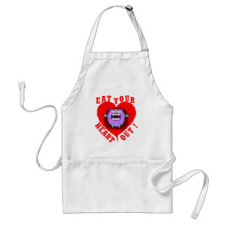 Monster Eat Your Heart Out Adult Apron