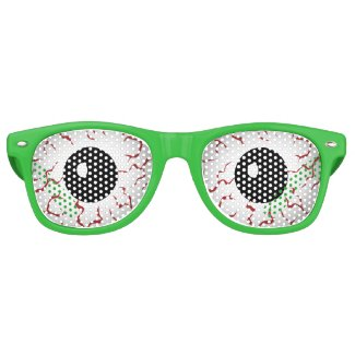 Monster Eyes Funny Halloween Retro Sunglasses