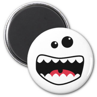 Monster face 2 inch round magnet
