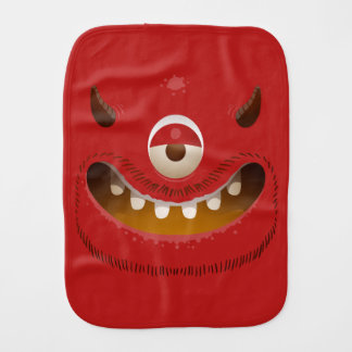 Monster Face Baby Burp Cloth