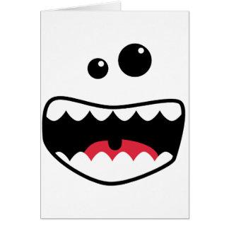 Monster face card
