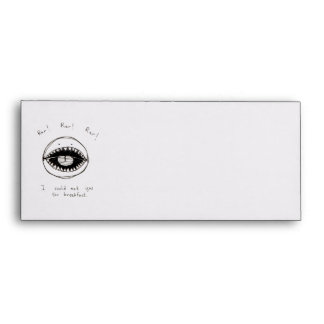 Monster face cute fun ink drawing silly art sketch envelope
