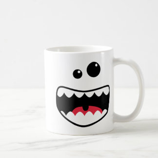 Monster face classic white coffee mug