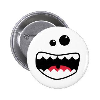 Monster face pinback button