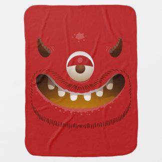 Monster Face Swaddle Blanket