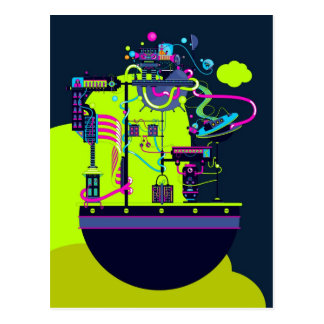 Monster Factory Postcard
