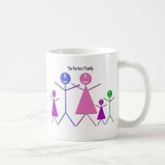 Monster Family (2 Girls, 1 Boy) Coffee Mug