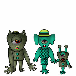 Monster Family Photo Sculpture