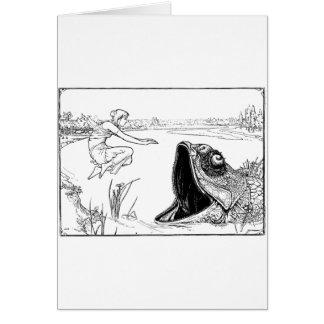 Monster Fish Greeting Card