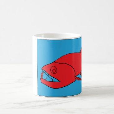 Coffee Themed Monster Fish Coffee Mug