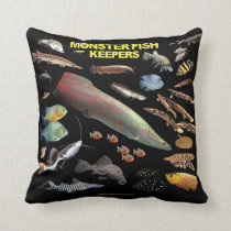 Monster Fish Keepers Throw Pillow
