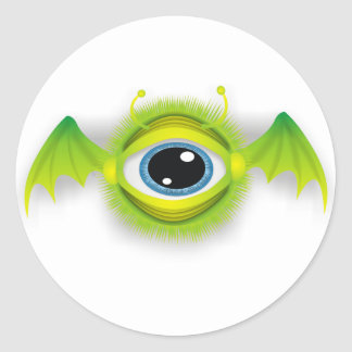 Monster fly eye classic round sticker