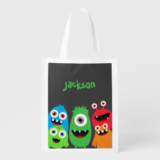 Monster Friends Grocery Bags