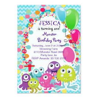 Monster Fun Birthday party invitation