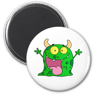 Monster Funny Comic Drawing Cartoon Cute Happy Magnet
