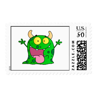 Monster Funny Comic Drawing Cartoon Cute Happy Postage