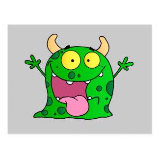 Monster Funny Comic Drawing Cartoon Cute Happy Postcard